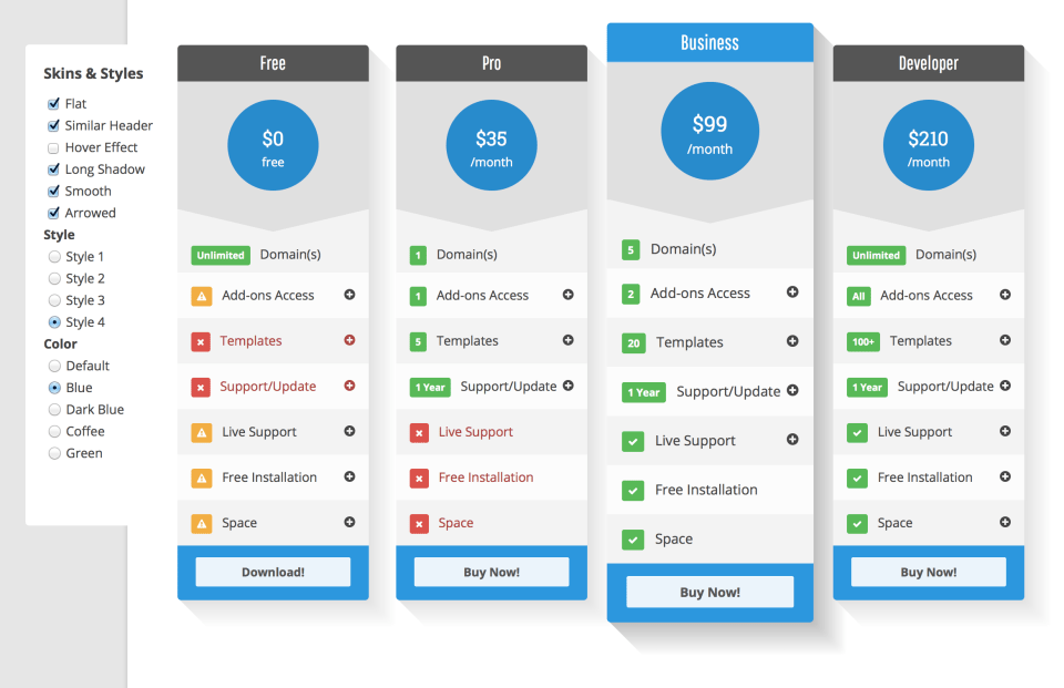Wordpress pricing table plugin pro pricing table rock template supports paypal pronofoot35fo Gallery