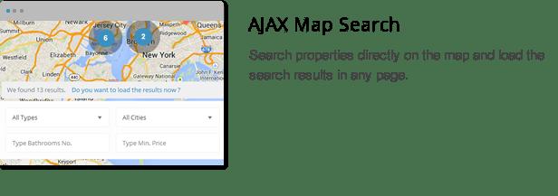 wpresidence map ajax advanced search