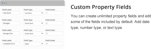 wpresidence custom property fields