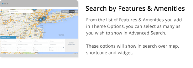 search by features and amenities