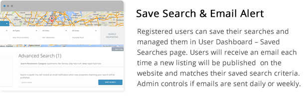 save search and email alert