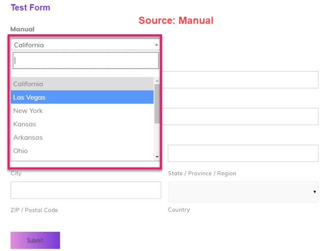 manual address select