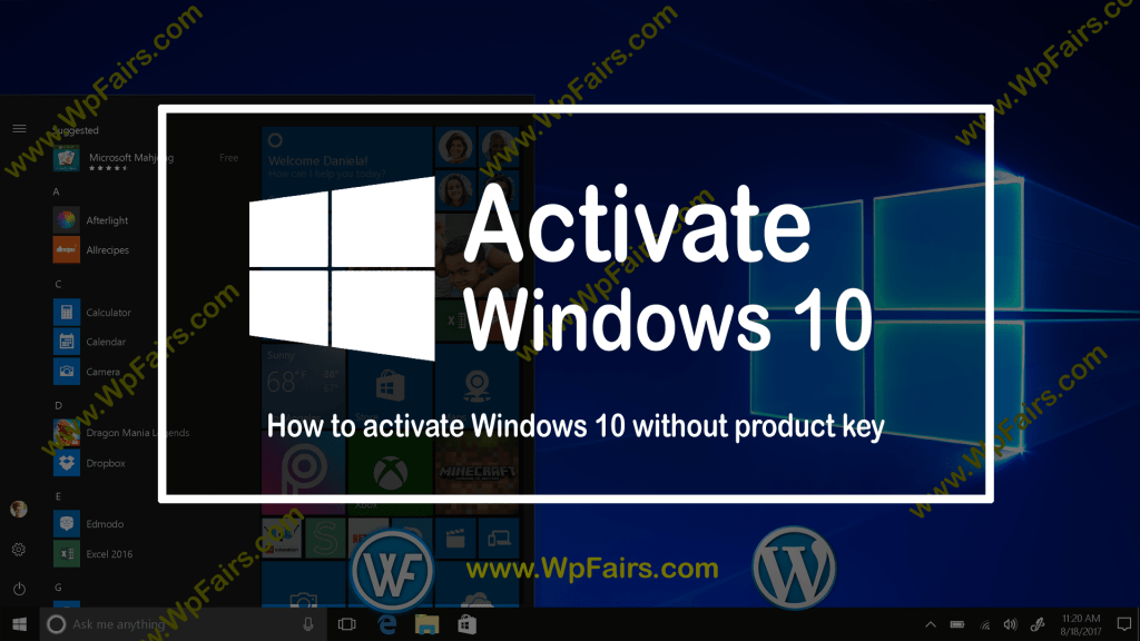 How to activate Windows 10 without product key - wpFairs