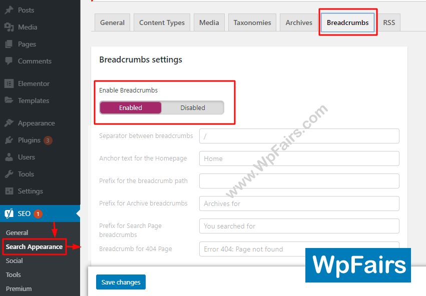 How To Add Breadcrumb For Generatepress WordPress Theme Yoast Settings