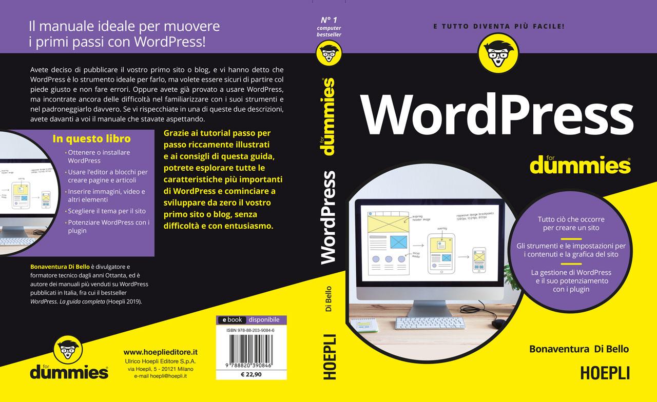 copertina estesa WordPress For Dummies edizione italiana