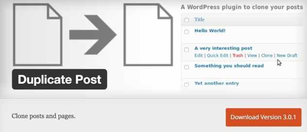 Plugin Duplicate Post