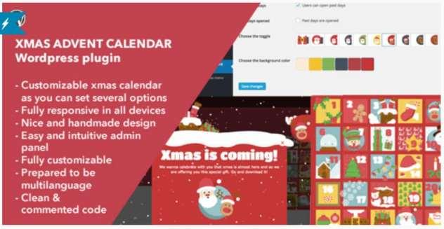 plugin de Noël : Xmas Advent Calendar