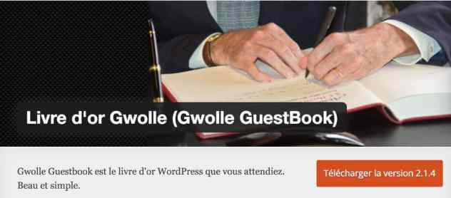Livre d'or - WordPress plugin