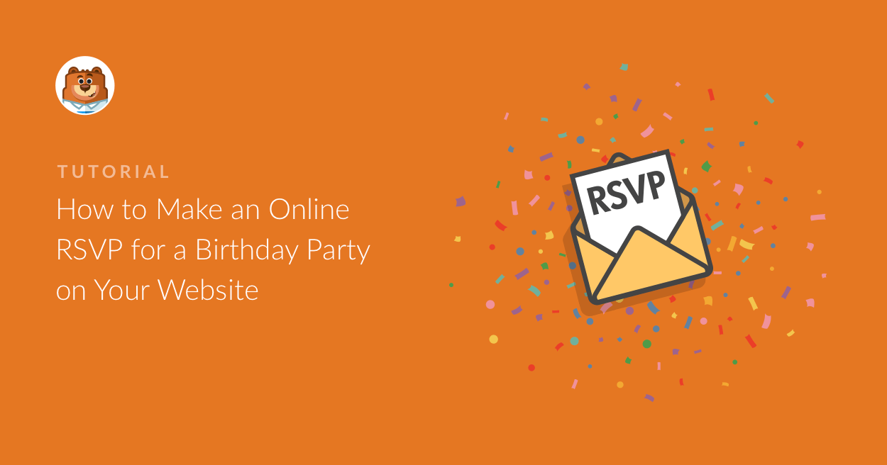 online rsvp for a birthday party