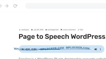 Speaker v3.1.0 – Page to Speech Plugin for WordPress Nulled