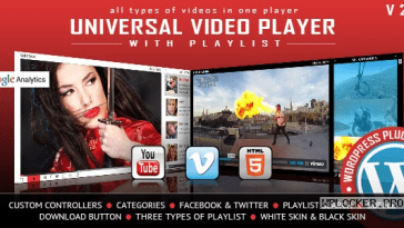 Universal Video Player v3.4 – WordPress Plugin Nulled
