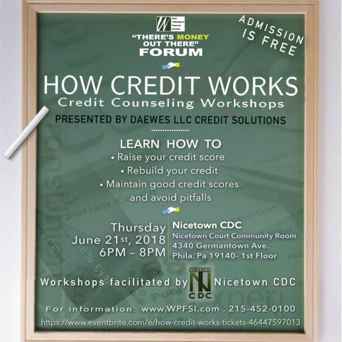 How Credit Works Credit Free Counseling Workshops