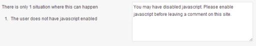 Javascript not enabled