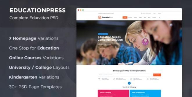 educationpress wordpress lms themes