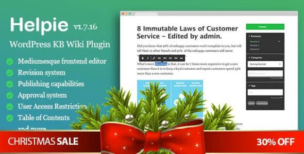 Helpie WP WordPress Documentation Plugin