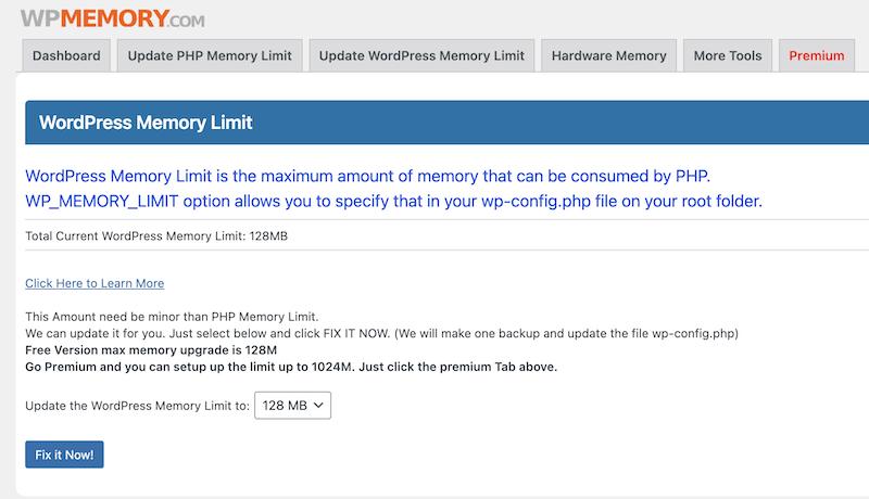 wp memory plugin