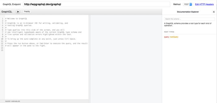 GraphiQL IDE Screenshot