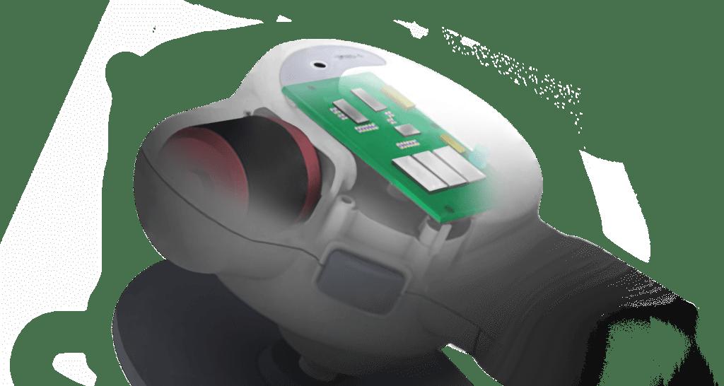 雪豹智能電動無線清潔打蠟機_智能電控板、無刷馬達_透視圖