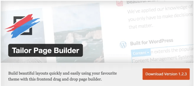Tailer Page Builder
