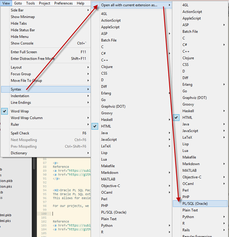 Sublime Text for Oracle Apex Developers – W P  Hill Tech