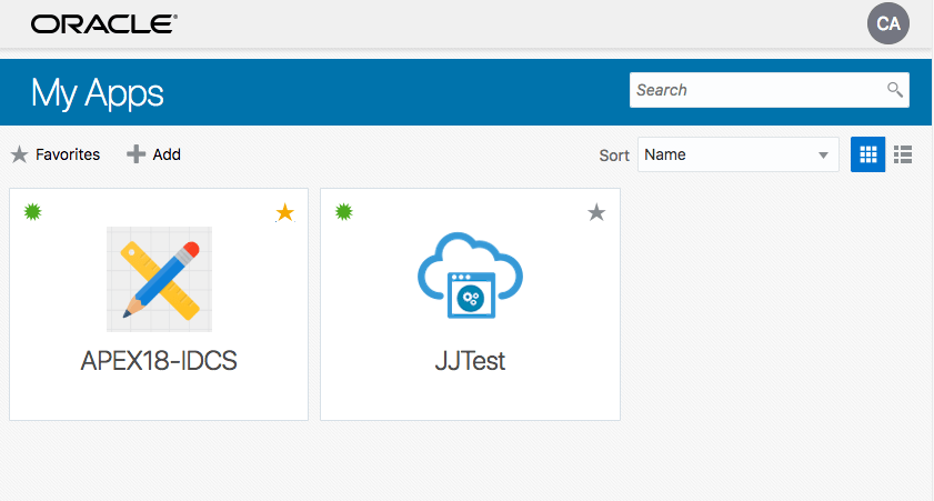 APEX Auth-N and Auth-Z using Oracle Identity Cloud Service