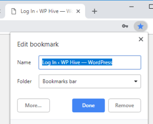 Bookmark WordPress Login