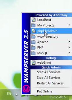 setting up wamp server wordpress