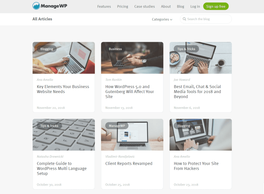 managewp- best WordPress blogs