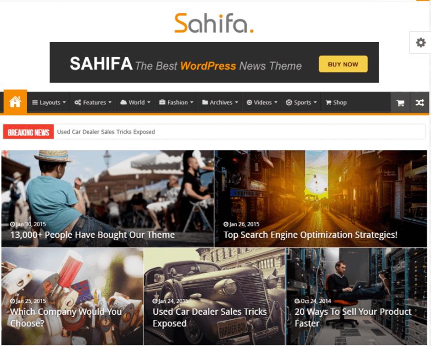 Sahifa- how to create a news website in WordPress