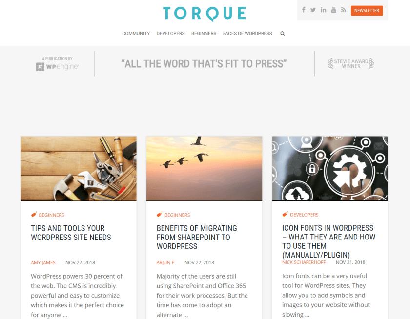 torque- best WordPressblogs