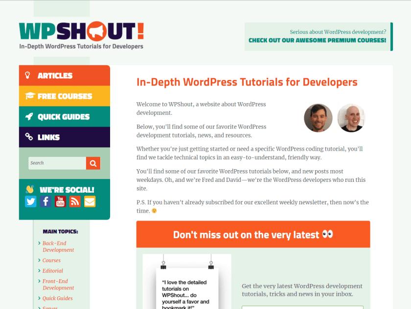 wpshout- best WordPress blogs