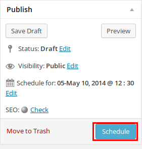 How to Schedule WordPress Posts - Step by Step [2019] 2