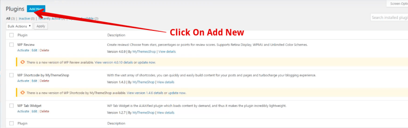White text and missing buttons in WordPress visual editor Click On Add New