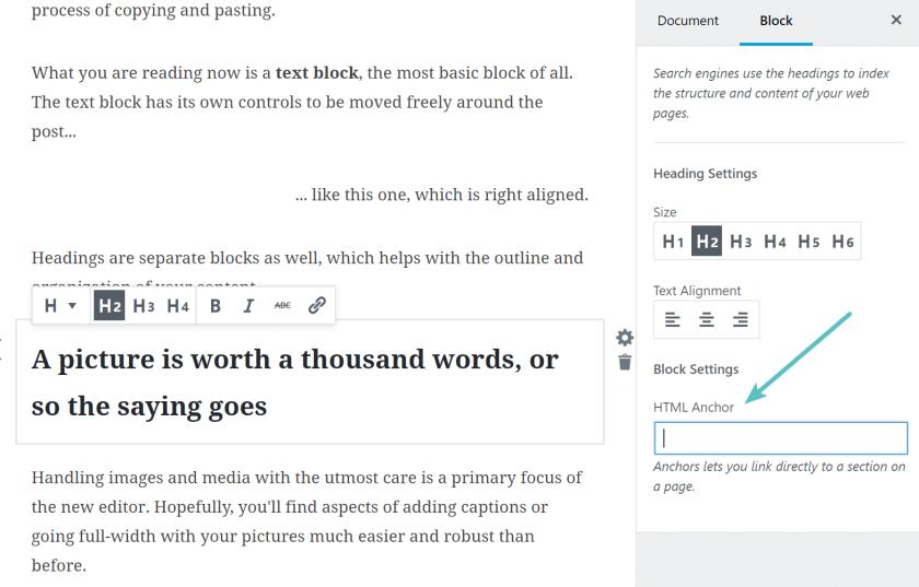 gutenberg-anchor-support WordPress 5.0 Review