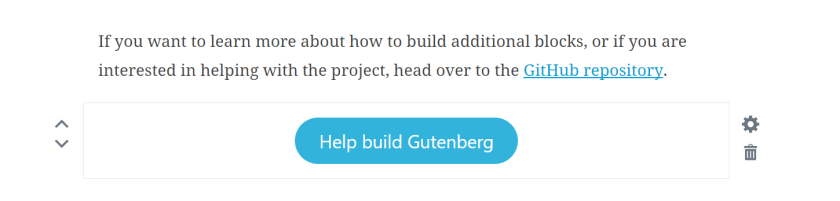 gutenberg-button WordPress 5.0 Review