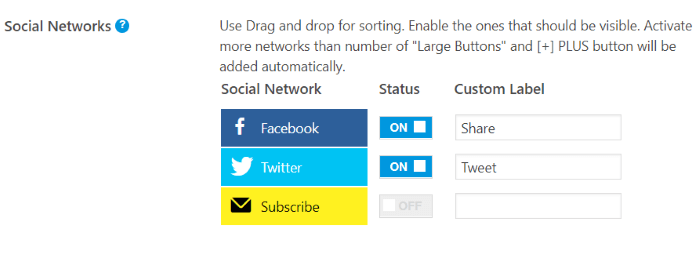 Mashshare Networks social media plugin for website