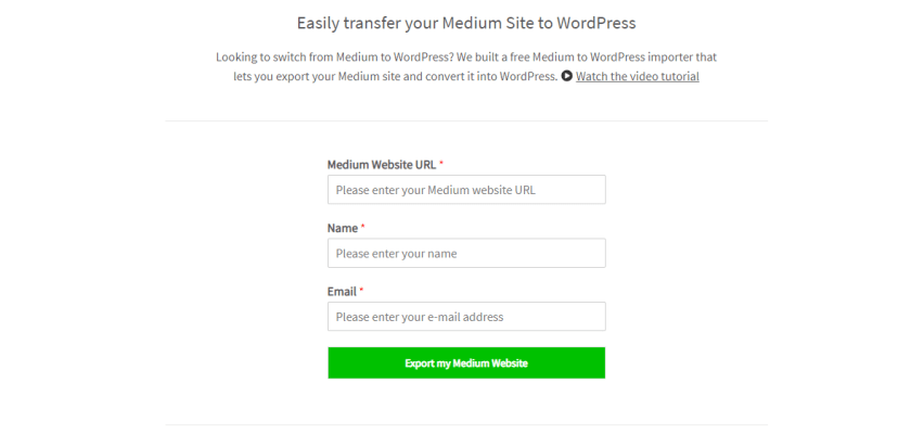 Medium to WordPress Importer Tool