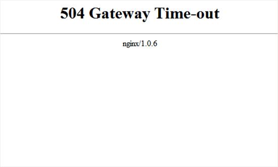 Gateway Timeout 504