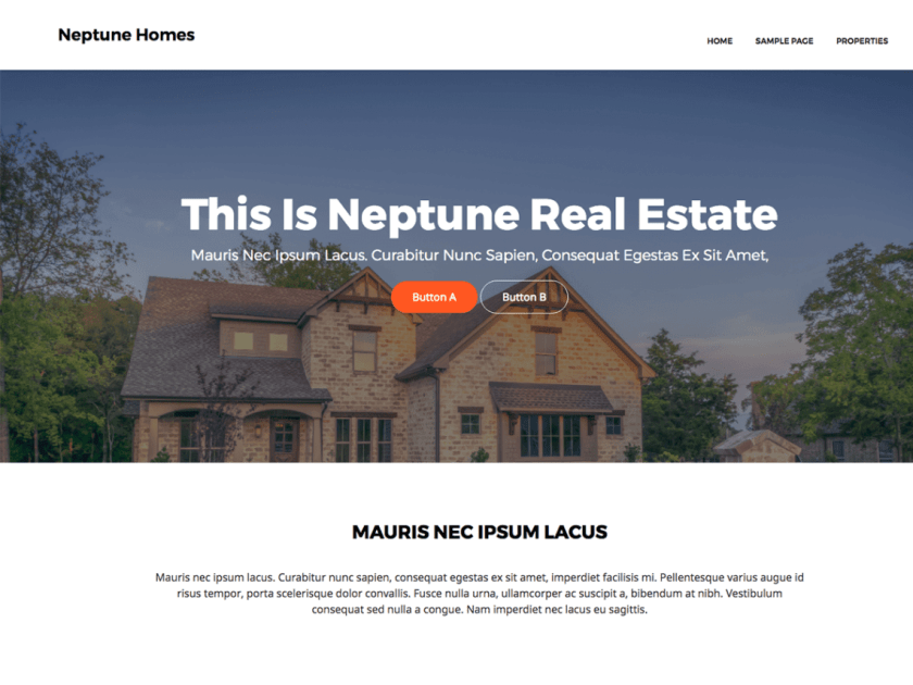 Neptune Real Estate Theme