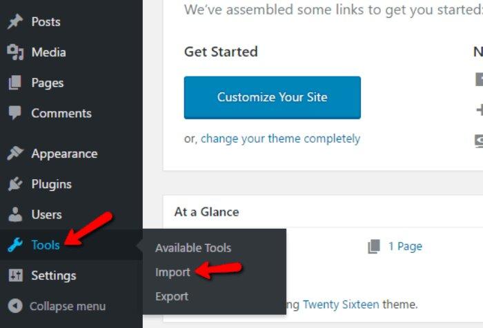 Migrate WordPress.com to WordPress.org Import