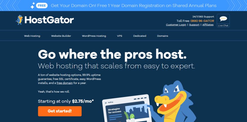 HostGator-best WordPress hosting providers