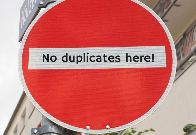 avoid duplicacy