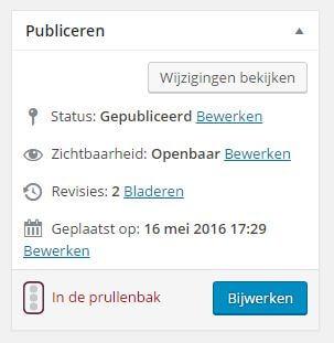 Wordpress revisies