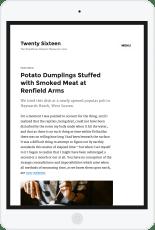 2016 WordPress Theme ipad portrait