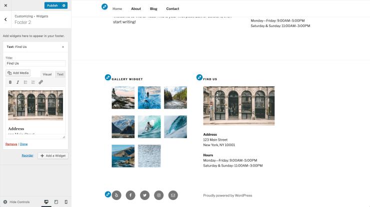 Add Media Button WordPress New Widget