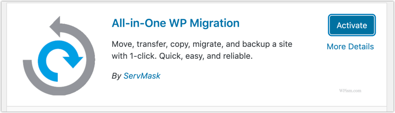 All-in-One WP Migration Activate Plugin