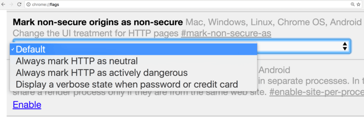 Always mark non-secure origins as non-secure