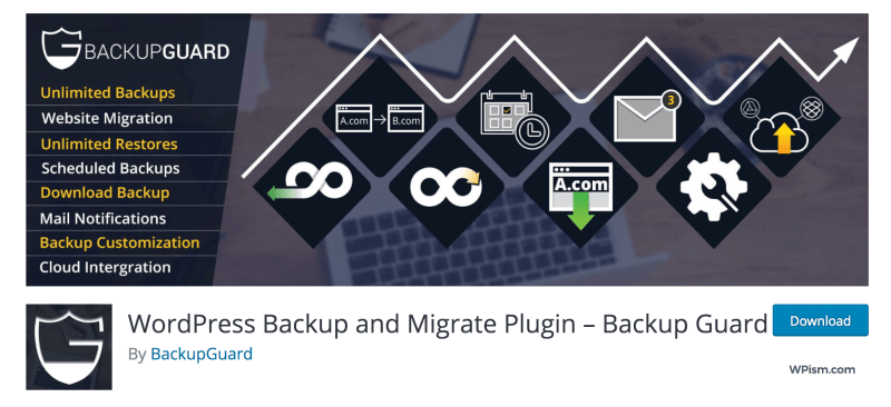 BackupGuard WordPress Plugin download Migration