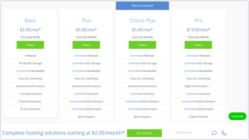 Bluehost discount plan with coupon code