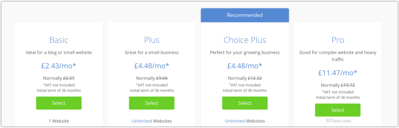 Bluehost hosting plans deals